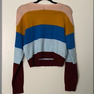 Cropped striped sweater!